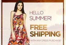 Summer, Summer Time! For Ladies / We are all about dressing it up! Whether you like to stand out or keep it subtle, Summer dresses are a warm weather staple!  Free Shipping on all dresses at www.pointzero.ca! Until Sunday, June 28th, 2015! / by Point Zero