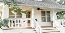Farmhouse Porch / A collection of images to inspire a farmhouse style front porch.