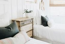 Farmhouse Guest Room / Simple, white farmhouse style bedroom for your guest.