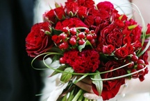 Red Bouquets / Red Bride and Bridesmaids Bouquets