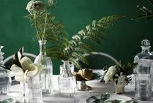 Emerald Eclectic / Kitchen, Dining, and Living Room inspired by golds, emeralds, and timeless furniture.