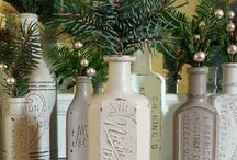 ~ Antique Bottles and Jars ... / old bottles and jars / by Rita Phillips