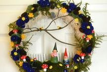 Wreaths / Wreaths for doors, walls and windows. / by Cathy Thomas