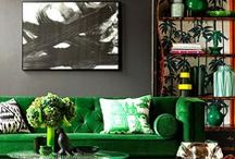 COLOR-KSID-GREEN-CRUSH / Green rooms, decor and products.