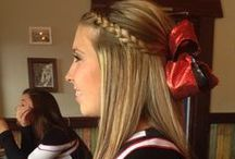 Cheer Hair & Makeup / Lots of cute ideas for cheerleaders! Spirit Accessories has what you need from bows to cosmetic bags, too!