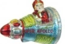 santa clause in Apollo spaceship