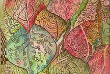 Zentangle, doodls and patterns