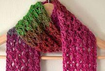 Crocheted Scarfs, Scoodies, Shawls & Wraps / Triangle & rectangle shawls, wraps, scarfs, hooded scarfs, infinity scarfs / by Misty Gardner