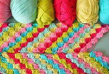 Crocheted Blankets & Afghans / Baby Blankets, Lapghans, Afghans / by Misty Gardner