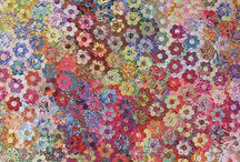 Fabric, hexies all over