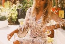Fashion - Spring/Summer / Flowy dresses, bright colors, flower patterns and cute sandals. Let the sun shine on.