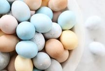 Easter / spring, bunnies, chicks & eggs, candy, brunch & resurrection.