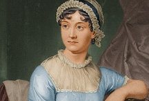 Jane Austen  and her times / My favourite author, her books, characters, influences, homes, friends.  Anything connected with her that gives me the slimmest excuse to pin.