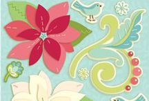 Peppermint Twist / Album, papers and embellishments designed by Brenda Walton for K&Company
