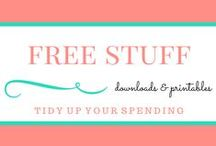 """Free Stuff / Everyone likes free stuff! Here are some free resources that I have found to make your life more """"tidy."""" Free budget templates, printables, and other goodies just for you!"""