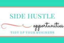 Make Money. Side Hustles. / Here are tons of different ways that you can start supplementing your household income. Start a side business! Take some surveys! Become a reviewer! There are so many ways that you can start making money on the side TODAY! Everyone needs at least one side hustle.