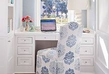 Office Lust / I love perusing home office designs especially dramatic and feminine DIY layouts. These are my favs. What are yours? Enjoy!  / by Angela L. Montanez