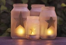 Decorating ideas using Jars / Use jars to enhance your decorating in your home / by Lana Artz- Prine