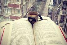 Coffee, Tea, or Both? / A hot drink and reading go so well together!