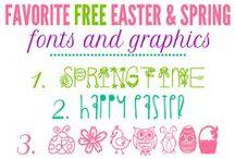 Easter Fonts / Easter Inspired Fonts