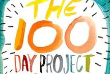 #the100dayproject / from April 19th-July 27th artists are uploading things they've made for 100 days!