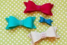 Bows / Hair bows, wrapping bows, and How-To's for making them. / by Jamie Harrington