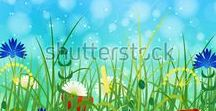 Hello Summer! / Illustrations for microstock on a theme Summer