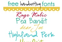 Fonts & Printables / by Peggy Butler