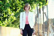 how to wear: a white blazer / Outfit inspiration for a white blazer