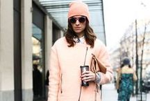 Winter Pastels / Outfit ideas for wearing pastels during the cooler months.