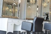 Salon Inspiration / Ideas for decorating your salon. Make your dreams a realty with our Salon Design Team http://www.cosmoprofequipment.com