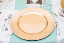 Dinnerware / Place Settings / Check out all the different options you have to make your table a beautiful and memorable part of your event! China, Glassware, and Flatware - who knew there were so many options!