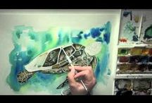 Watercolour speed painting by Meg Hawkins