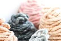 """Yarnoholic? / """"Creating and processing exotic yarns has given new meaning to adding fiber to my diet."""" – Kathy Haneke"""
