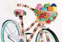 """Yarn Bombing/ Art / """"A loop after a loop. Hour after hour my madness becomes crochet. Life and art are inseparable."""" – Olek"""