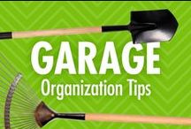 Garage Organization Tips / Got a garage that's so overgrown with stuff that you can't fit your car or find what you need? Alejandra Costello's garage organization tips, videos, ideas, and best products are perfect for addressing – or preventing – garage clutter! Enjoy a calmer space, plus peace of mind that your vehicle is better protected when parked inside! / by Alejandra Costello | Home Organizing Tips, Ideas, Videos, & Best Products