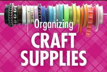 Organizing Craft Supplies / Love crafting, scrapbooking, quilting and more, but feel overwhelmed by how to best organize your supplies? This is the perfect Pinterest board for you! Alejandra Costello's organizing craft supplies ideas, tips, videos, and best products will take the guesswork out of getting your craft room or craft closet organized! / by Alejandra Costello | Home Organizing Tips, Ideas, Videos, & Best Products