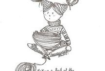 Knit and Crochet Illustrations