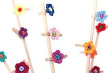 """Crochet flower Inspiration / """"If I were able to leave you with only one piece of crochet advice, it would be to always have fun. Learn the basics, but then just go crazy with your crafty self!"""" – Twinkie Chan"""