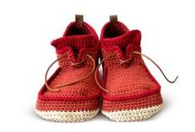 """Crochet Shoes Inspiration / """"Play around with materials, colors, stitches. Everything is allowed! Crochet is a magnificent adventure that opens the doors to your wildest imagination and creativity."""" – Marie-Noelle Bayard"""