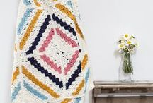 """Crochet Blanket Inspiration / """"We crochet squares, hats, scarves, and blankets to donate so those in need can feel the warmth and comfort of someone who cares.  We crochet for others before we crochet for ourselves."""" – Crochet Blogger Debi Y."""