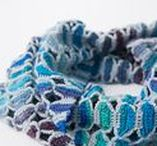 """Crochet Scarves/Shawls Inspiration / """"A crocheted piece is the lovely manifestation of a thought, expressed through hand, heart, hook, and yarn."""" – Francine Toukou (What can I say, she's highly quotable.)"""