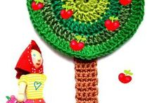 """Crochet Applique Inspiration / """"Crochet is such a wonderful craft. There are so many facets and variations to explore with a hook and some yarn. The creative possibilities are endless."""" – Margaret Hubert"""