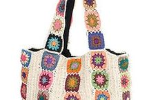 """Crochet  Granny Bag Inspiration / """"The joy of crochet is its simplicity: there is only ever one stitch in work and just a few variations of the basic stitches to master, but the possibilities of using and combining those stitches together are endless."""" – Erika Knight"""