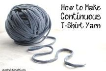 T shirt Yarn/ Upcycle / by Annoo Crochet