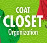 "Coat Closet Organization / Take the ""war"" out of ""wardrobe,"" with Alejandra Costello's organization ideas, tips, videos, and best products for coat closets and wardrobes. A front closet cloaked in clutter creates a sense of confusion, but Alejandra's organizing ideas can help you put on peace!"