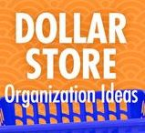 Dollar Store Organization Ideas / The buck STARTS here: Alejandra Costello's dollar store organization ideas, videos, best products, and tips take the guesswork out of what to look for at the dollar store, and the fun ways you can use your dollar store finds to make cheap and inexpensive DIY organizers that will leave you feeling like a million bucks.
