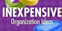 Inexpensive Organization Ideas / You don't have to go broke to get organized. Let Alejandra Costello's inexpensive organization ideas, tips, videos, and best products show you how possible it is to cost-effectively declutter spaces, and make them calmer places!