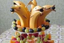 Liana's Mermaid World -- Food Garnishes / The kind of food presentation the mermaid chef serves to the King and Queen...