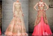 Indo-Western Fashion / Fusion fashion, fusion wear, Blend of Indian ethnic style and western cuts.